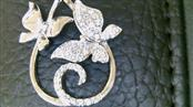 Beautiful Butterfly Diamond Sterling Silver Pendant